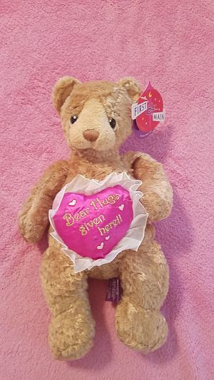 """Brand new Valentine's day """" bear hugs given here"""" bear for Sale in Williamsport, PA"""