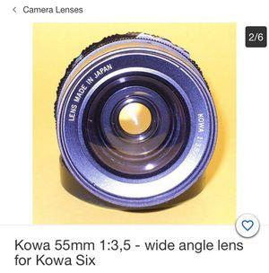 KOWA 55mm 1:3.5 Wide Angle Lens For KOWA SIX for Sale in Philadelphia, PA