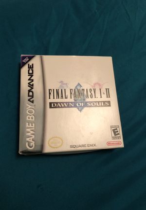 Final Fantasy I & II Dawn of Souls Nintendo GameBoy Advance for Sale in McAllen, TX