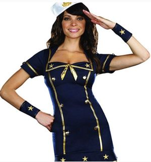 Sailor Honey Mini Dress Costume Navy Blue & Gold Cosplay Halloween Costume size L for Sale in Alexandria, VA