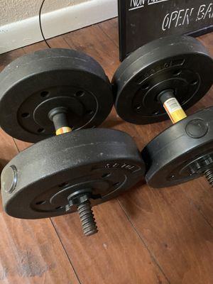 Dumbbells - 2 X 20 lbs, Weight can be added. for Sale in Houston, TX