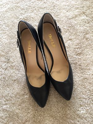 Leather black pump. size 6.5/37. for Sale in Arlington Heights, IL