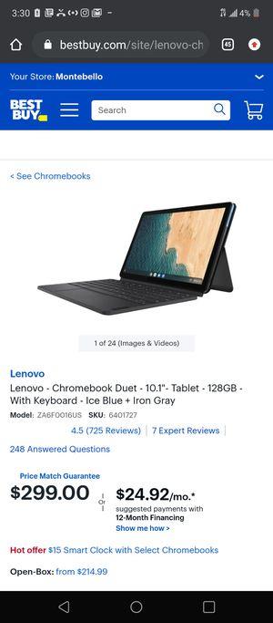 Lenovo chromebook ideapad duet for Sale in South El Monte, CA