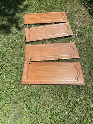 "13 x 38"" Oak Real Wood Kitchen Cabinets Doors Tall Long + Handles + Door Hingers for Sale in Garland, TX"