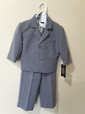 New Baby Boys Grey Formal Suit Size 12-18 Months for Sale for sale  Hacienda Heights, CA