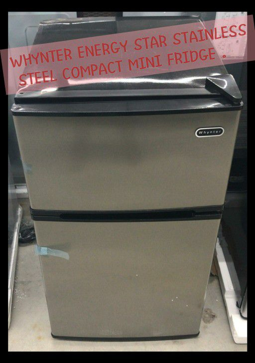 Whynter Energy Star Stainless Steel Compact Refrigerator/Freeze