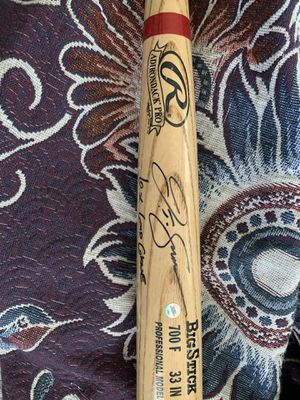Autographed J.T Snow baseball bat with sticker of authenticity for Sale in Benicia, CA