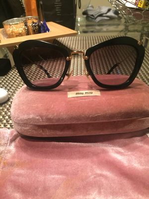 Miu Miu by PRADA cat eye black sunglasses for Sale in Savannah, GA