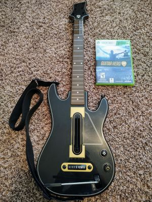 XBOX 360 Guitar Hero Live GAME AND GUITAR for Sale in Zephyrhills, FL
