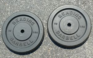 Reading Barbell 35 LB Plates Pair Vintage for Sale in Manheim, PA
