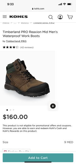 Brand New. Still in box! Timberland Pro Reaxion Work boots! for Sale in Clackamas, OR
