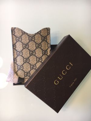 Authentic Unisex Gucci Guccissima Canvas & Leather iPhone 5 or 4 Case for Sale in Chicago, IL
