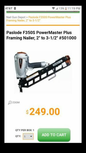 Paslode nail gun for Sale in Columbus, OH