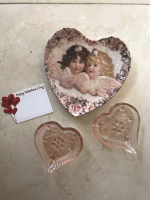 Valentine's...vintage glass/ porcelain collectible plate for Sale in Huntington Beach, CA