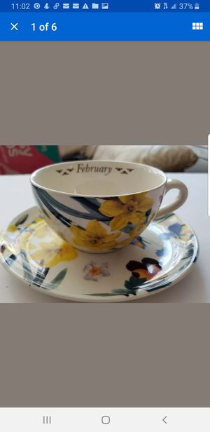 Spode flower of the month Tea Cup New in box for Sale in Newport News, VA