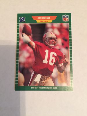 Joe Montana 1989 pro set football card. $2. for Sale in ROCHESTER, NY