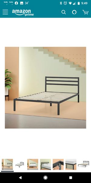 Brand New!! QUEEN SIZE, Zinus Mia Modern Studio 14 Inch Platform 1500H Metal Bed Frame / Mattress Foundation / Wooden Slat Support / With Headboard for Sale in Batavia, OH