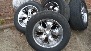 6 lug 20 inch rims and tires for Sale in High Point, NC