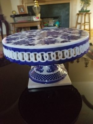 Cake plate with server for Sale in Broadway, NC