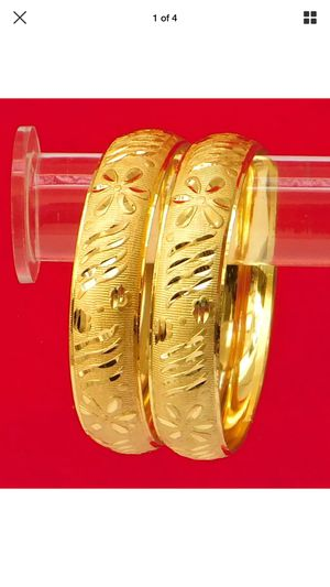 "22k gold plated bangles 2-6"" and 2-8"" available for Sale in Silver Spring, MD"