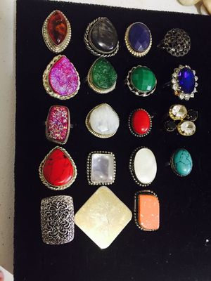 Women's ring lot all for $40 different sizes for Sale in Old Bridge Township, NJ
