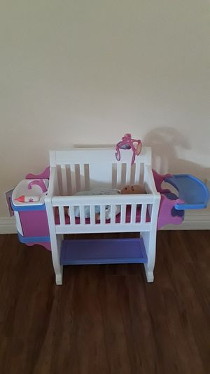 Baby girl doll nursery, like new (price firm!!) for Sale in Riverside, CA