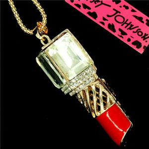 Beautiful! Betsey Johnson Crystal & Enamel Lipstick -Charm w/Free Chain for Sale in Salisbury, NC