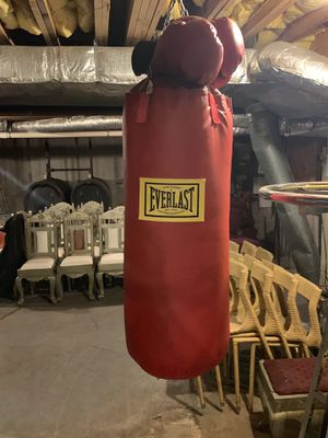 Punching bag with gloves for Sale in Boston, MA
