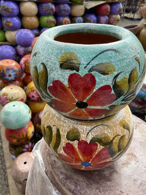 Two beautiful colorful flower pots for Sale in Cedar Park, TX
