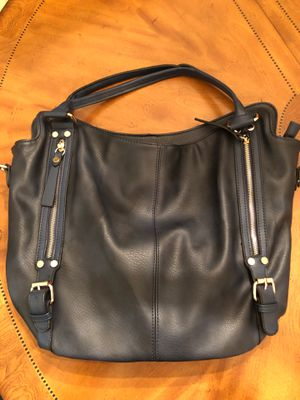 New blue leather purse, multiple pockets for organizing for Sale in Trinity, FL
