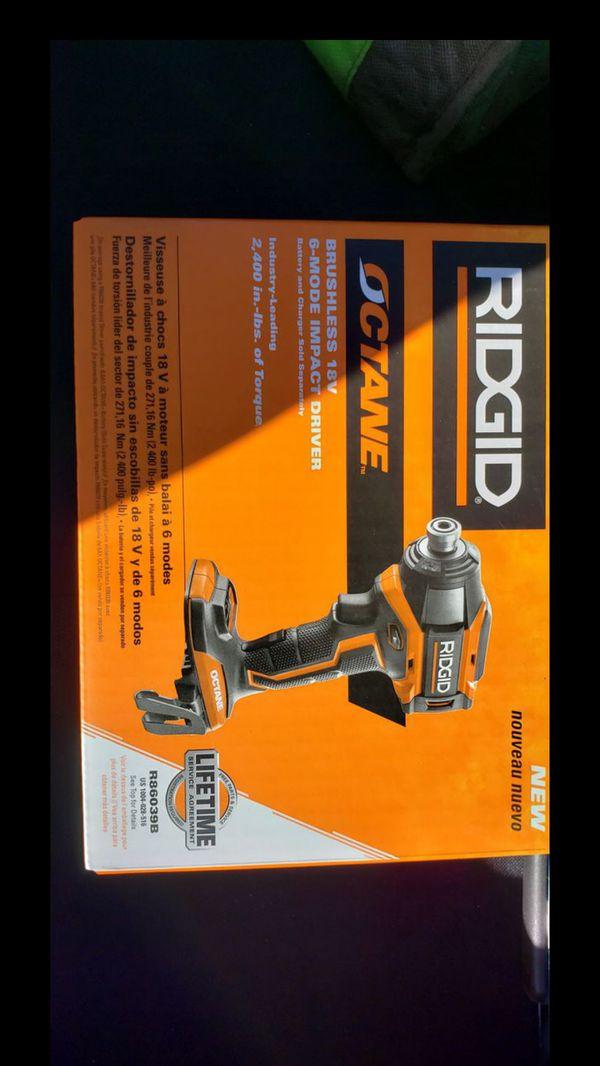 Rigid Brushless 18-Volt Impact Driver (Brand New)