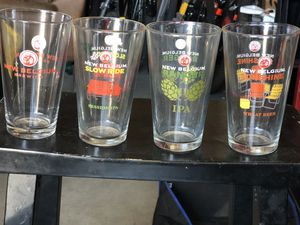 Collection of New Belgium Pint Glasses $25 for Sale in Santee, CA