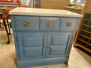 Country blue washstand cabinet for Sale in Freedom, PA