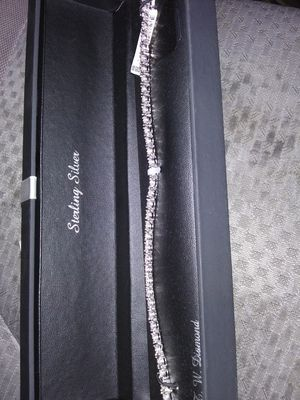 Sterling silver diamond braclet for Sale in Forest Heights, MD