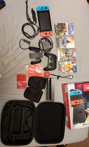 Nintendo switch, 4 Games, pro controller for Sale in Eastvale, CA