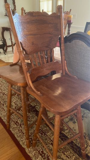 Wooden Bar stools set of 4 for Sale in Basking Ridge, NJ