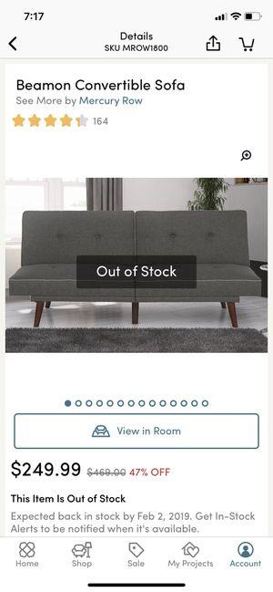 Large barely used Wayfair futon Beamon convertible sofa for Sale in Santa Monica, CA