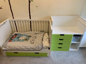 IKEA STUVA crib and changing table for Sale in Snohomish, WA