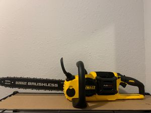 NEW DEWALT FLEX VOLT CHAINSAW ( TOOL ONLY) NO BATTERY NO CHARGER for Sale in Dallas, TX