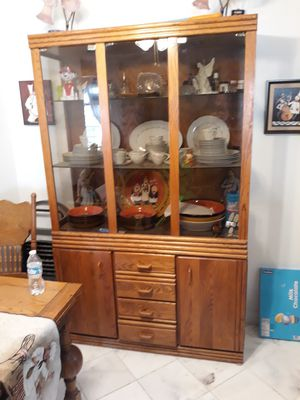 Antique hutch with China dishes for Sale in Las Vegas, NV