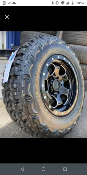 """Off-road Wheel & Tire package 17"""" Outlaw wheels + 265/70R17 MT Wheels and tires only $1099 for Sale in Westminster, CA"""