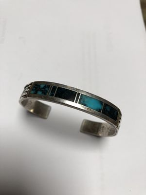 Zuni sterling signed cuff for Sale in Wayland, MA