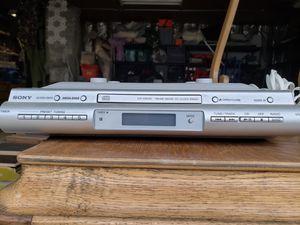 Sony (under cabinet) AM/FM CD kitchen clock radio. Model #ICF-cdk 50 for Sale in Strongsville, OH