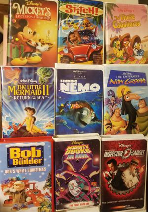 Disney VHS lot Neemo, Stitch, Mermaid... for Sale in San Dimas, CA