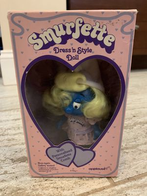 Vintage rare new in box smurfette collectible doll smurf toy for Sale in Gilbert, AZ