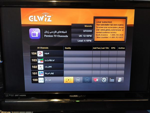 GLWIZ GLBOX HD60 for watching Persian/Arabic/Turkish/Kurdish/Afghan TV  channels in USA for Sale in City of Industry, CA - OfferUp