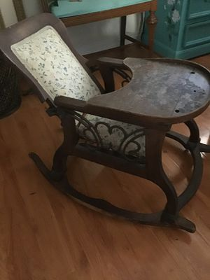 Antique child rocker,Walter and eating chair cash or trade for Sale in Chino Hills, CA