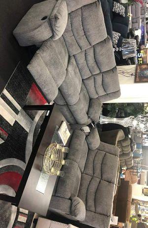 [SPECIAL] Tulen Gray Reclining Living Room Set / Sofa and Loveseat / Rocker Recliner for Sale in Houston, TX