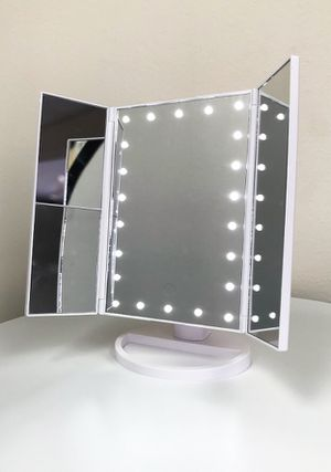 """New $20 each Tri-fold LED Vanity Makeup 13.5""""x9.5"""" Beauty Mirror Touch Screen Light up Magnifying for Sale in City of Industry, CA"""