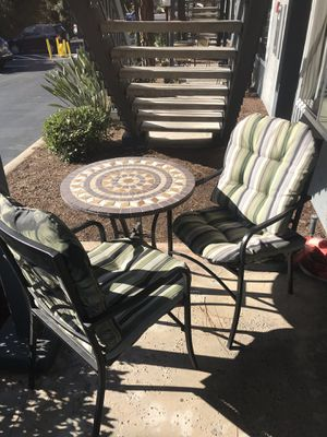 Outside table with 2 chairs ! Awesome condition for Sale in CA, US